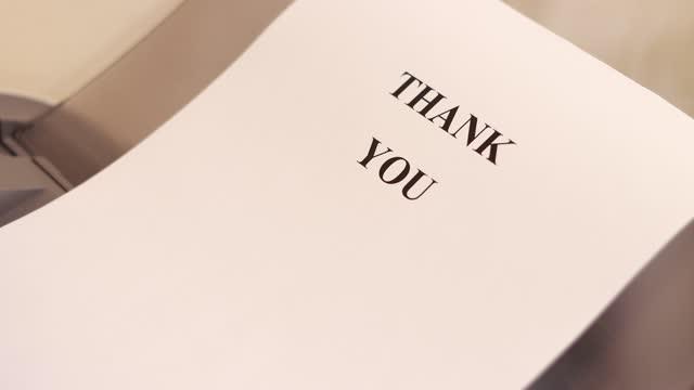 """vídeos de stock e filmes b-roll de """"thank you"""" text printed on the sheet paper. thanksgiving concept. - filosofia"""