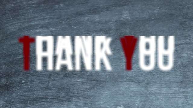 Text 'Thank you' over Blackboard The Text 'Thank you' over Blackboard in 4k resolution video. web banner stock videos & royalty-free footage