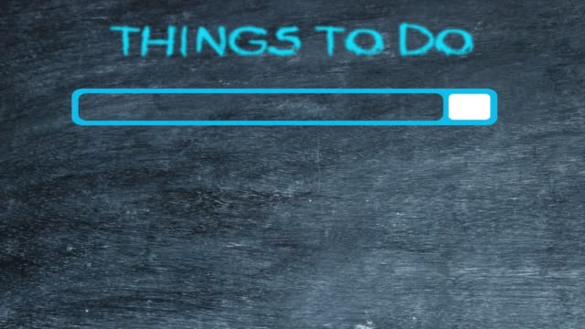 testo delle cose da fare sulla lavagna - to do list video stock e b–roll