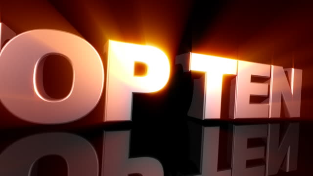 TOP TEN 3D Text with Light Rays video
