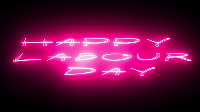 GLÜCKLICH LABOUR DAY Text, Hintergrund, Computer generieren, einsetzbar für Feiertage festliche Design – Video