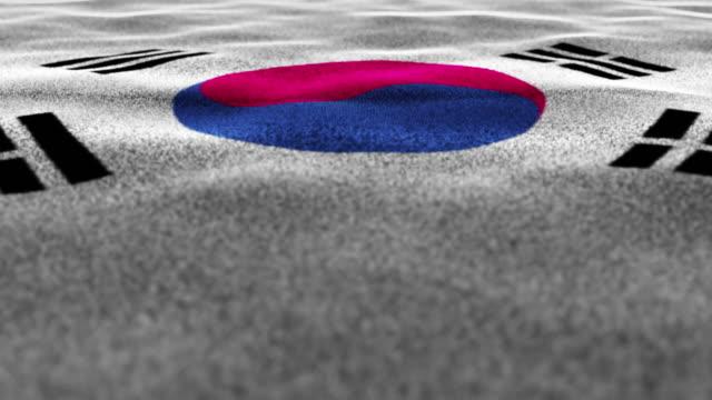 SOUTH KOREA, Textile Carpet Background, Still Camera, Loop video