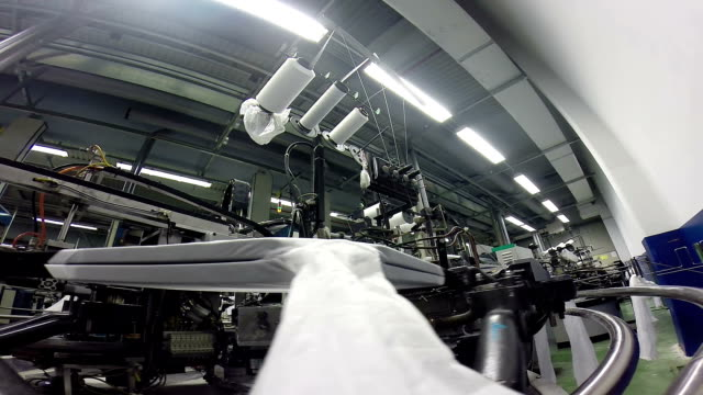 Textile Fabric Manufacturing Machines in Action video
