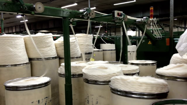 Textile Factory - Spinning, Yarn Production video