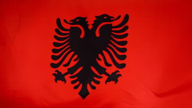 Textile flag of Albania video