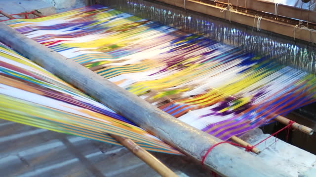 textile industry in yazd, iran - industria tessile video stock e b–roll