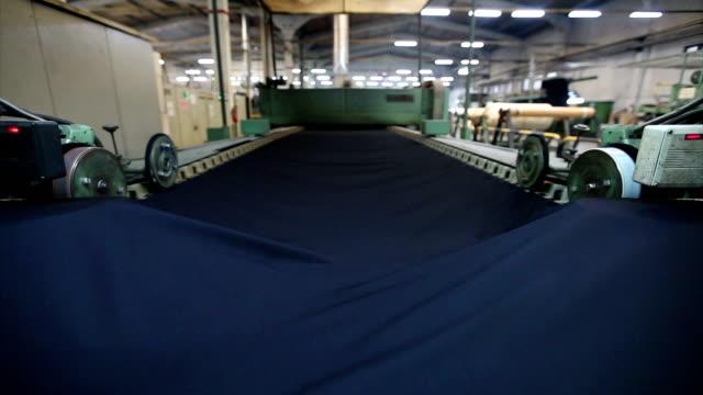 produzione tessile - industria tessile video stock e b–roll
