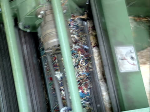 riciclaggio in tessuto - industria tessile video stock e b–roll