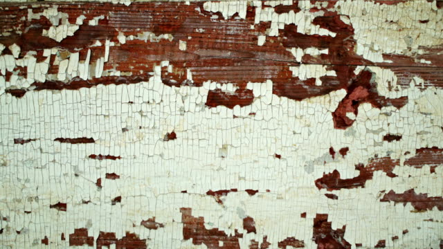 Texture grunge old wooden brown textured background with peeling paint white color. Vintage backdrop video
