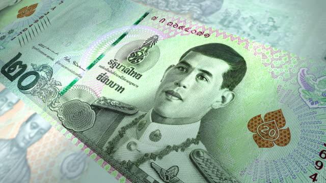 20 thailändska baht, närbild bilder av thailand pengar - kungen av thailand bildbanksvideor och videomaterial från bakom kulisserna