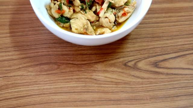 Thai basil fried foods video