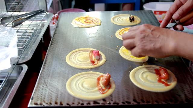Thai dessert street food call Tokyo fried  in street food video