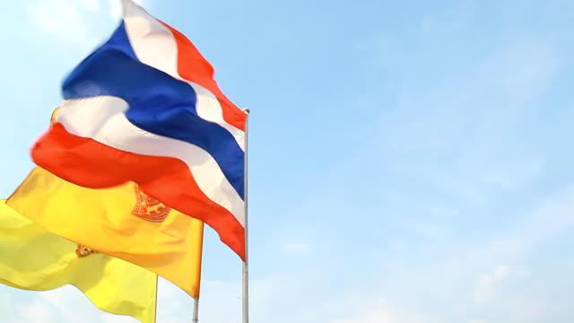 thai flag. video