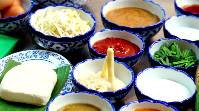 hd thai food ingredients - thai food stock videos and b-roll footage