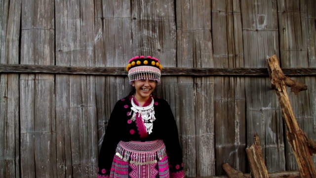 Thai Hill tribe smiling to camera video