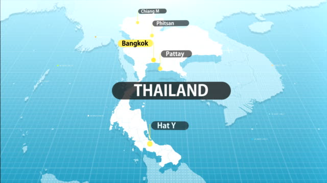 thai map - tajska kuchnia filmów i materiałów b-roll
