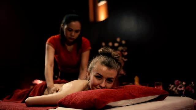 Thai massage shoulder. video