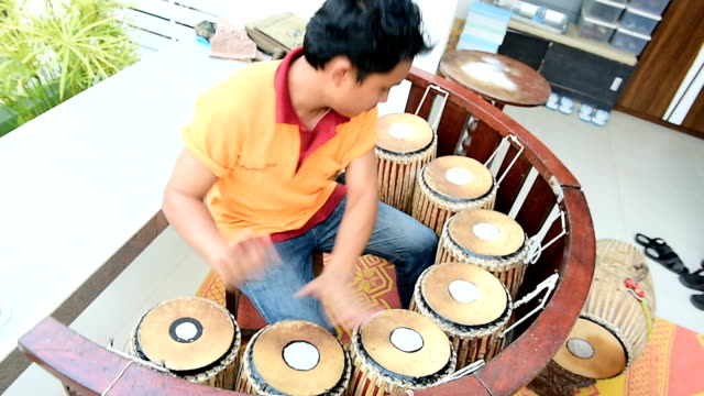 Thai Musician playing of puang-mang video