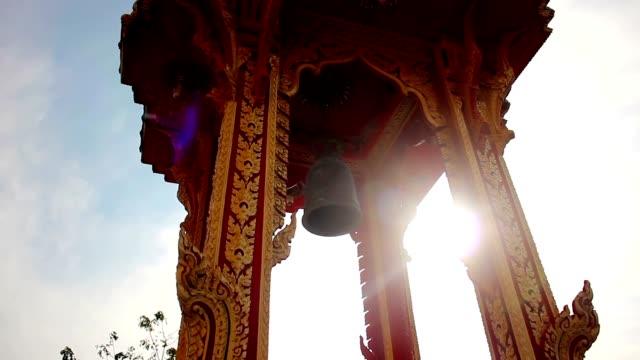 Thai style Belfry in Wat chalong ,Phuket Thailand video