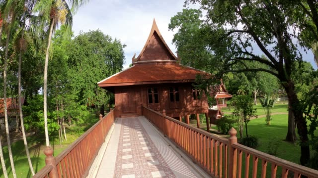 Thai style house in the Kamphaeng phet Province, Thailand