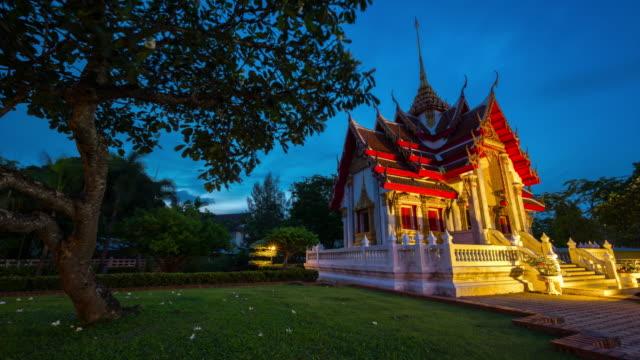 Thailand ,bangkok famous temple of the emerald buddha 4k sunset scene time lapse