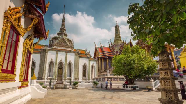 thailand bangkok main temple of the emerald buddha square 4k time lapse video