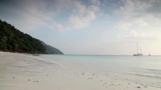 Thailand Beach Scene A beach in Thailand. Just sea and sand.  sukhothai stock videos & royalty-free footage