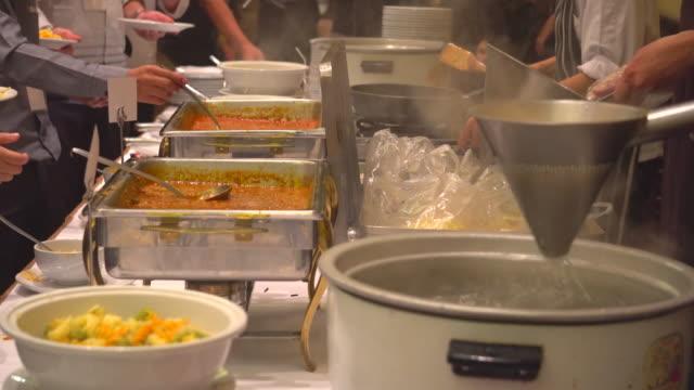 thailand buffet food - buffet video stock e b–roll
