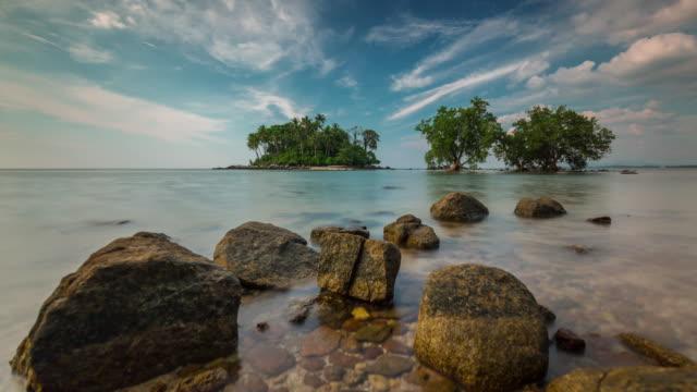 thailand day secret beach near airport panorama 4k time lapse phuket video