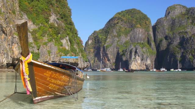 thailand most popular tourist koh phi phi beach islands panorama 4k video