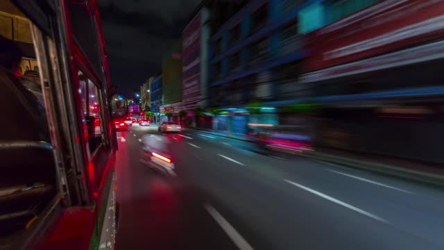 thailand night bangkok tuk tuk road trip street traffic 4k time lapse video