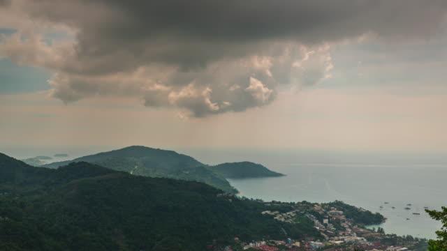 thailand phuket island bay observation deck panorama 4k time lapse video