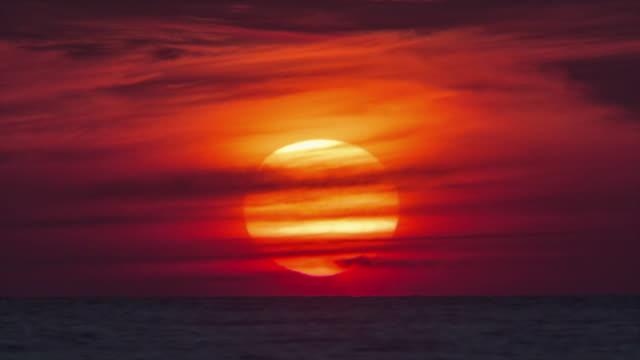 thailand phuket island sunset sund down in water close up 4k time lapse video