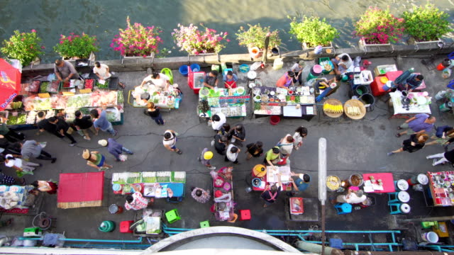 Thailand street market video