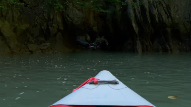thailand summer day famous islands excursion kayak nose ride view 4k video