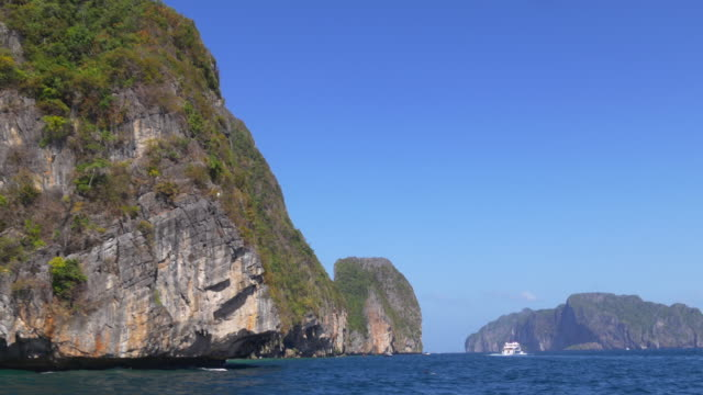 thailand summer day islands tourist swim place panorama 4k video