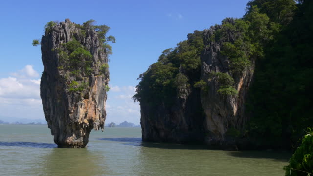 thailand summer day most popular james bond island panorama 4k video