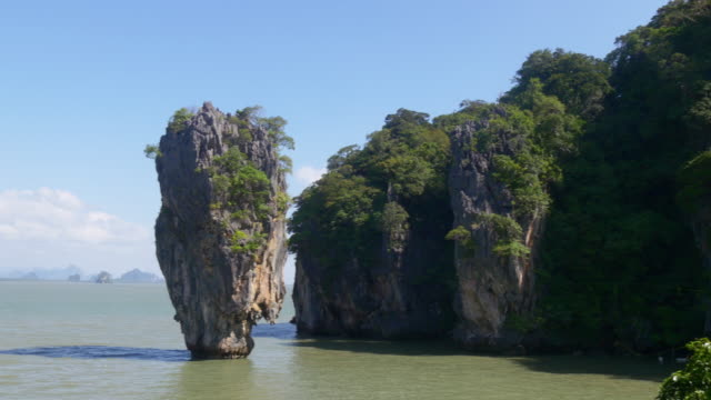 thailand summer greens james bond island panorama 4k video