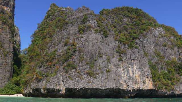 thailand summer time famous beach ko phi phi don panorama 4k video