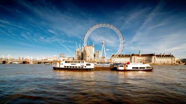 Thames and river banks of London, England, UK