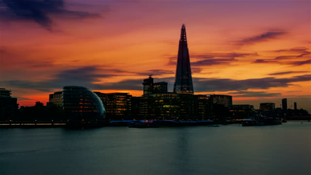 thames, shard and the city hall in london, england, uk - london architecture stock videos & royalty-free footage