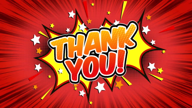 thank you - Comic Style Text Comic Style Text thank you stock videos & royalty-free footage