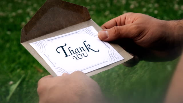 Thank You Letter 4K, 29.97P, Real Time, Close-Up thank you stock videos & royalty-free footage