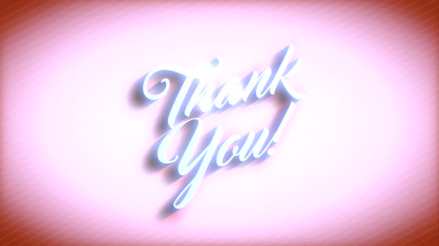 thank you message over vivid orange background - thank you stock videos and b-roll footage