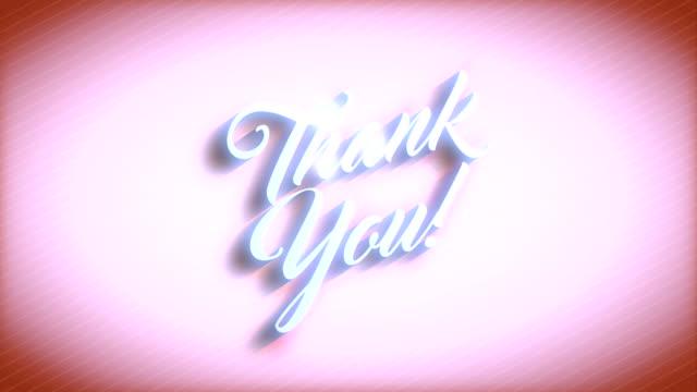 Thank You message over vivid orange background video