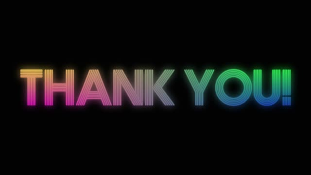 Thank you neon colorful word on black background Thank you neon colorful word on black background thank you stock videos & royalty-free footage
