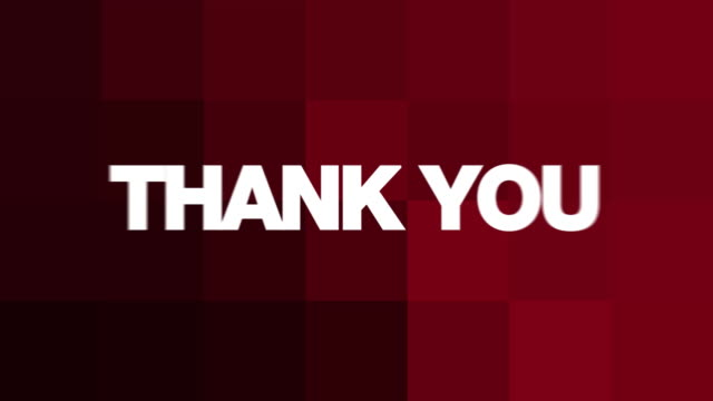 Thank You Text Animation  thank you stock videos & royalty-free footage