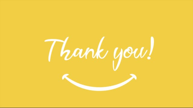 stockvideo's en b-roll-footage met dank u tekst waardering bedankt - aankondigingsbericht