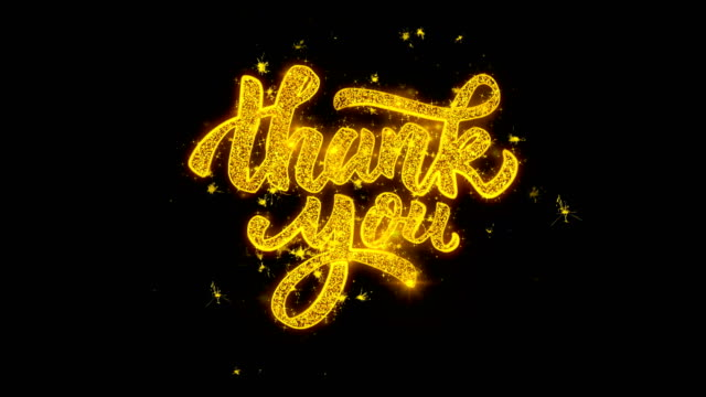 Thank You Typography Written with Golden Particles Sparks Fireworks 2 Thank You Typography Written with Golden Particles Sparks Fireworks Display 4K.  3 thank you stock videos & royalty-free footage
