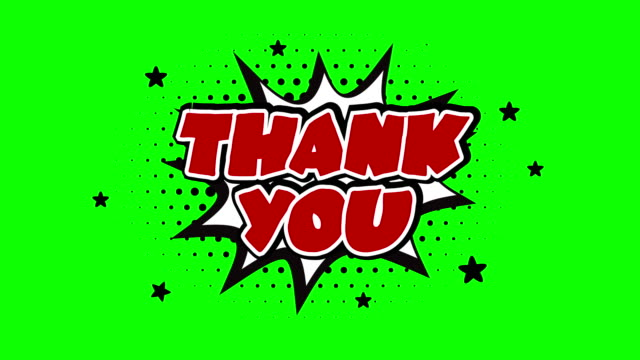 Thank you word animation over a chroma key background Thank you Pop Art Style Expression over a chroma key background thank you stock videos & royalty-free footage